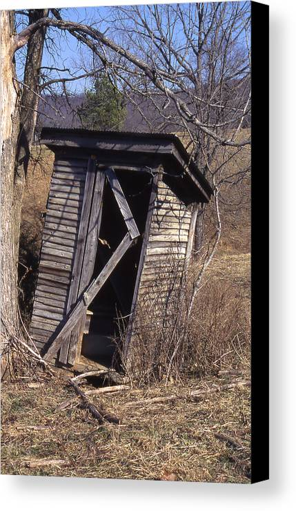 Canvas Print featuring the photograph Outhouse3 by Curtis J Neeley Jr