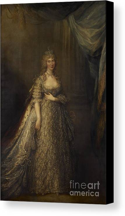 The Princess Of Wales Caroline Of Brunswick Canvas Print featuring the painting Princess Of Wales Caroline Of Brunswick by MotionAge Designs