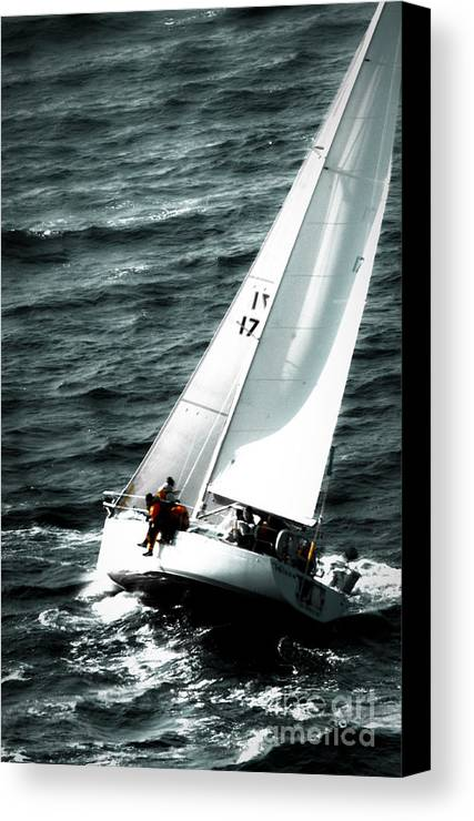 Sailing Canvas Print featuring the photograph Regatta Sailboat Races by Sandy Buckley