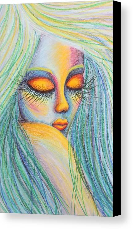 Spiritual Canvas Print featuring the painting Spirit Guide Truer Me by Beryllium Canvas