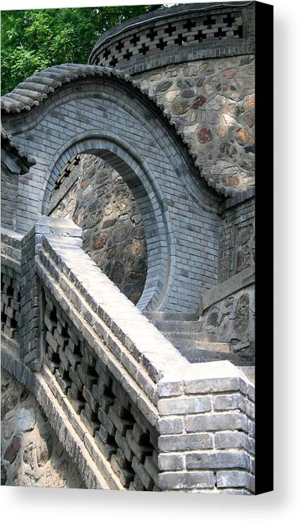 Stairway Canvas Print featuring the photograph Stairway by Erika Lesnjak-Wenzel