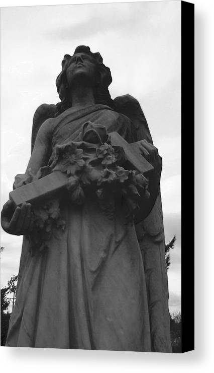 Angel Canvas Print featuring the photograph The Guardian by Valerie Josi