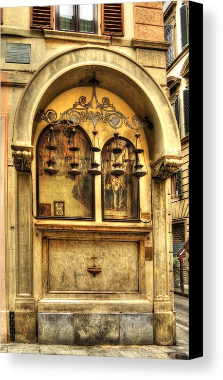 Alms Canvas Print featuring the photograph The Tabernacle Of The Five Lamps by Darin Williams