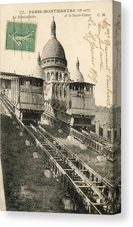 Paris Canvas Print featuring the photograph Sacre Coeur, Montmartre by Mary Evans Picture Library