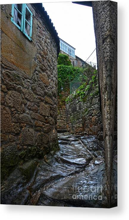 Ancient Canvas Print featuring the photograph Ancient Street In Tui by RicardMN Photography