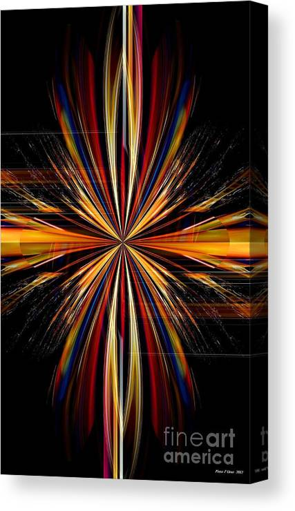 Abstract Canvas Print featuring the digital art Abstract 171 by Maria Urso