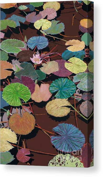 Landscape Canvas Print featuring the painting Muddy Waters by Allan P Friedlander