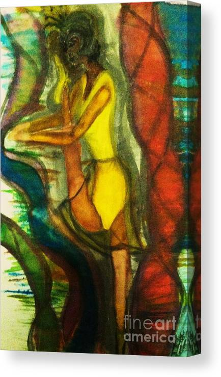 Sandra Richardson Gallery Canvas Print featuring the painting Ballerina by Sandra Richardson