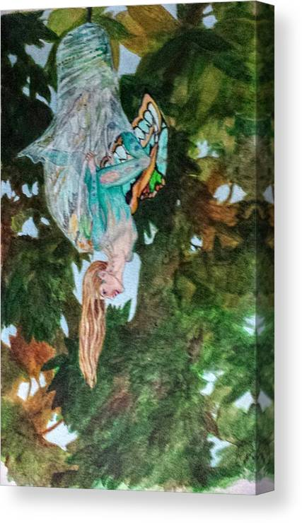 Butterfly Canvas Print featuring the painting Emerging by Judy Riggenbach