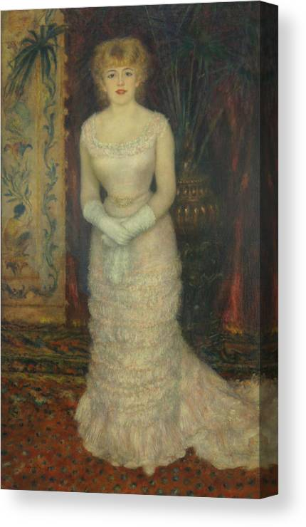 Jeanne Samary Canvas Print featuring the painting Jeanne Samary by Pierre Auguste Renoir
