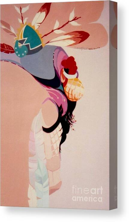 Kachina Canvas Print featuring the painting Kachina 1 by Marlene Burns
