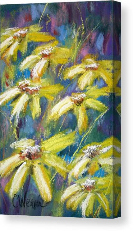 Sunshine Canvas Print featuring the painting Oh Sunny Day by Cathy Weaver