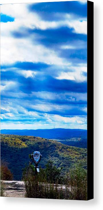 Sky Canvas Print featuring the photograph Miles N Miles by Art Dingo
