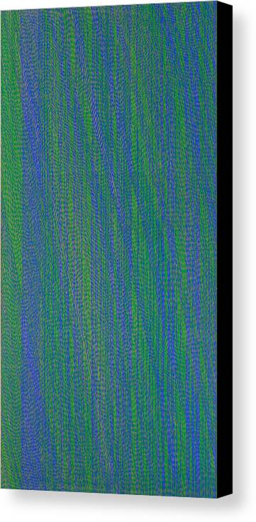 Green Blue Abstract Pattern Canvas Print featuring the painting Grbl79 by Joan De Bot