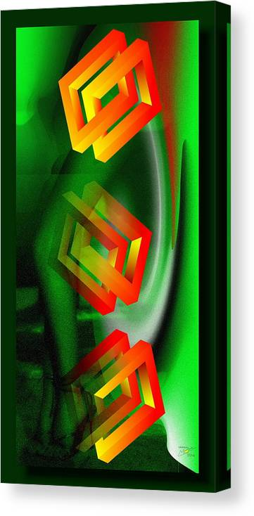 Digi_24 Canvas Print featuring the digital art 24 by Mojmir Plevnik