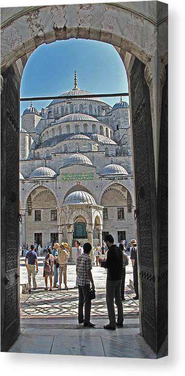 Istanbul Canvas Print featuring the photograph Far From Home by Ian MacDonald