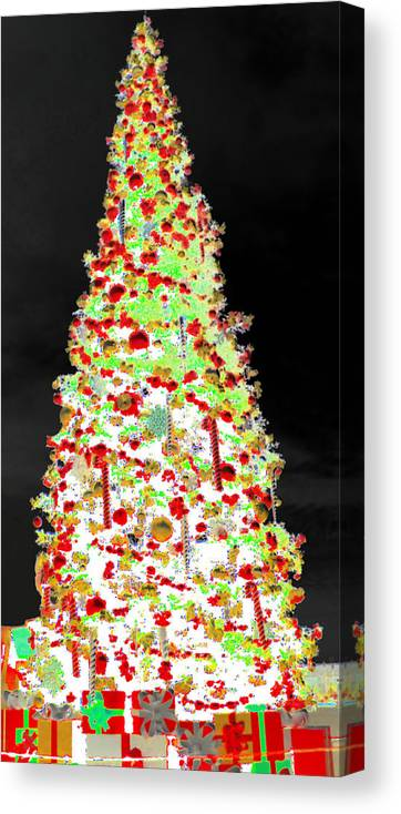 White Christmas Canvas Print featuring the digital art White Christmas by J Burns