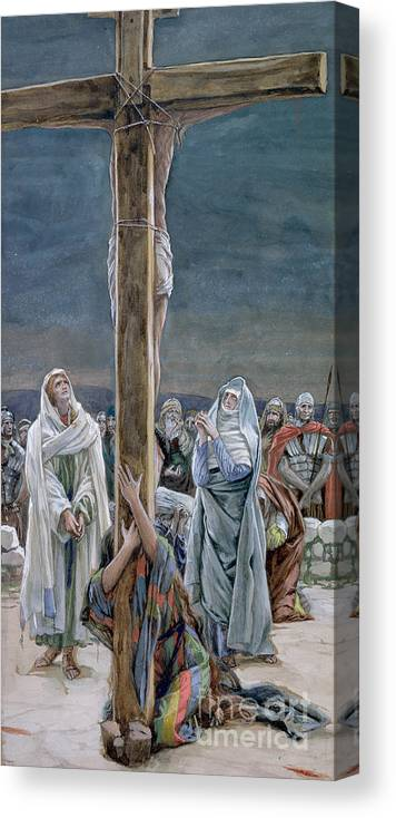 Stabat Canvas Print featuring the painting Woman Behold Thy Son by Tissot