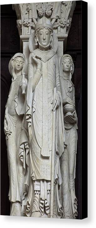 Europe Canvas Print featuring the photograph France. Autun. Cathedral Of St. Lazare by Everett