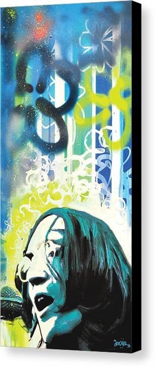John Lennon Canvas Print featuring the digital art Lennon by Erica Falke