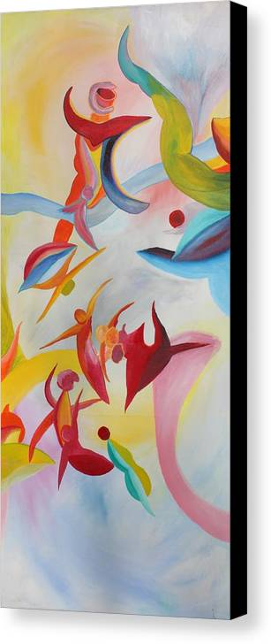 Abstract Canvas Print featuring the painting The Gathering by Peter Shor