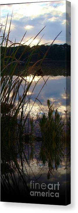 Reflection Canvas Print featuring the photograph Lovin It by Steven Lebron Langston