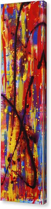 Abstract Canvas Print featuring the painting Urban Carnival by Lauren Luna