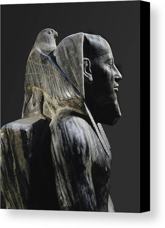 Vertical Canvas Print featuring the photograph Statue Of Khafre Enthroned. 2520 Bc by Everett