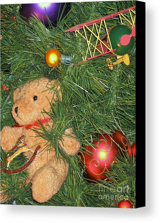 Christmas Canvas Print featuring the photograph Tree Of Toys by Ann Horn
