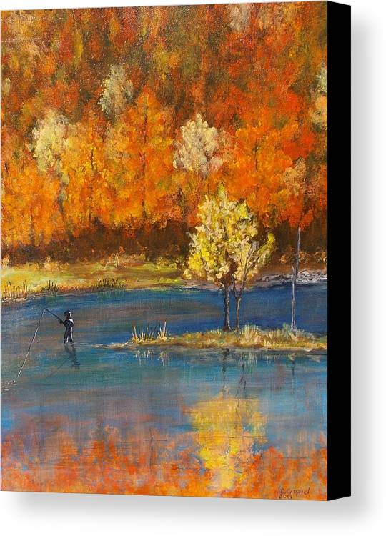 Fall Canvas Print featuring the painting Fall Colors by Walter Carrick