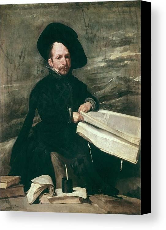 Vertical Canvas Print featuring the photograph Velazquez, Diego Rodr�guez De Silva by Everett