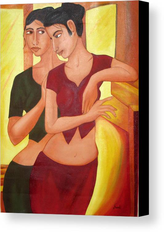 Oil Canvas Print featuring the painting Assurance by Sonali Kukreja