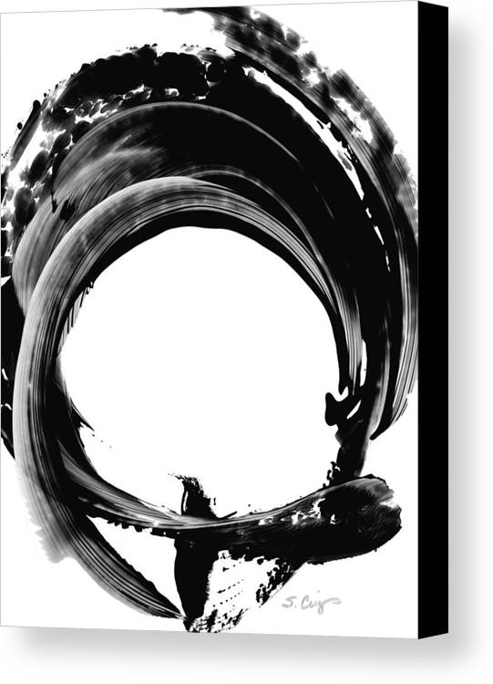 Abstract Canvas Print featuring the painting Black Magic 304 By Sharon Cummings by Sharon Cummings