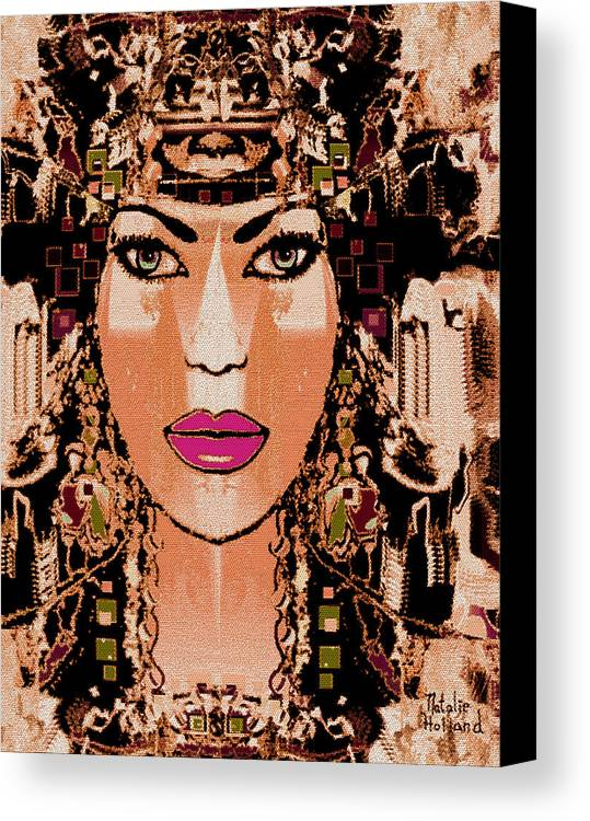 Cleopatra Canvas Print featuring the mixed media Cleopatra by Natalie Holland