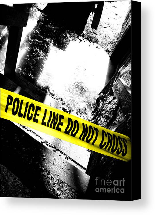 Crime Canvas Print featuring the photograph Crime Scene by Olivier Le Queinec