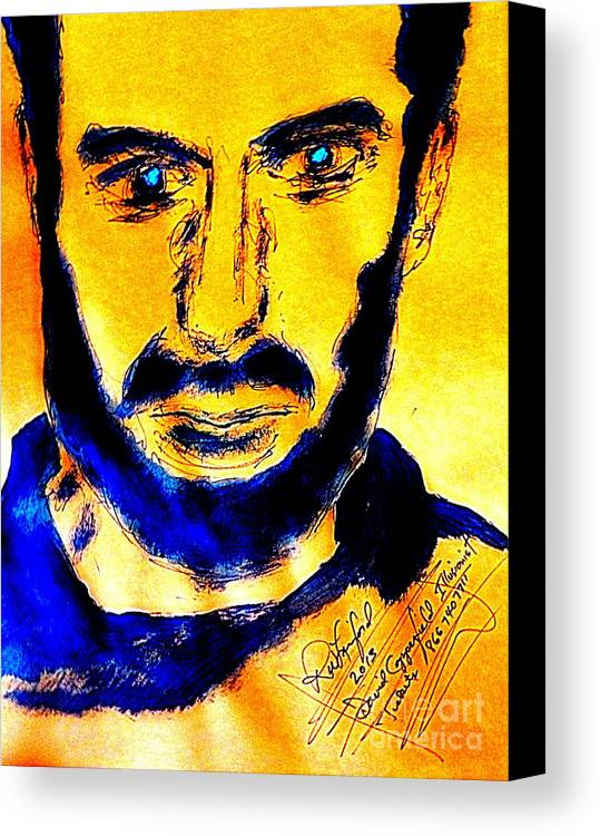 David Canvas Print featuring the painting David Copperfield Illusionist Gold 2 by Richard W Linford