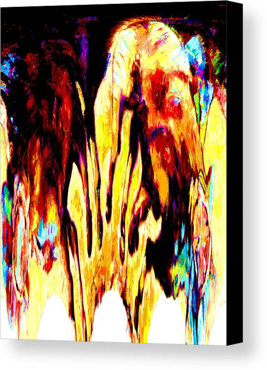 Abstract Canvas Print featuring the digital art Don't Cry Over Spilled Paint by John Lautermilch