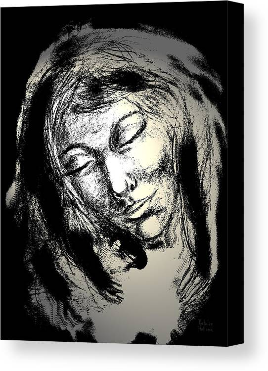 Woman Canvas Print featuring the drawing Enlightenment by Natalie Holland