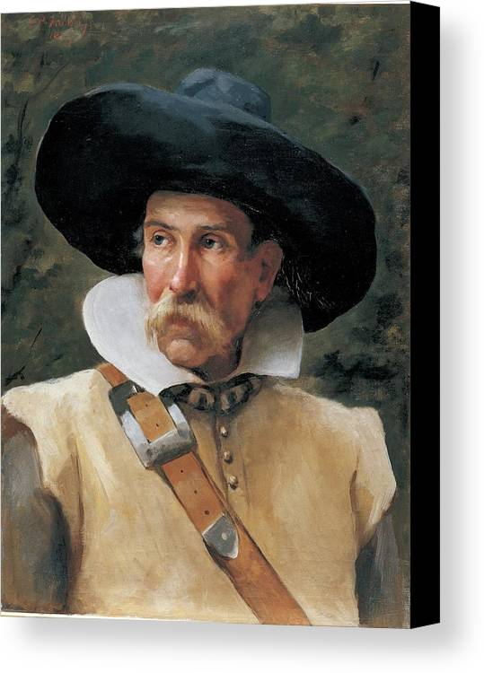 Half Bust Canvas Print featuring the photograph Fabbri Paolo Egisto, Portrait Of A Man by Everett