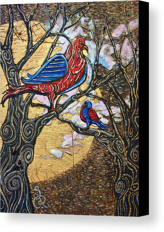 Birds Canvas Print featuring the mixed media Flight by Sarah Reuter