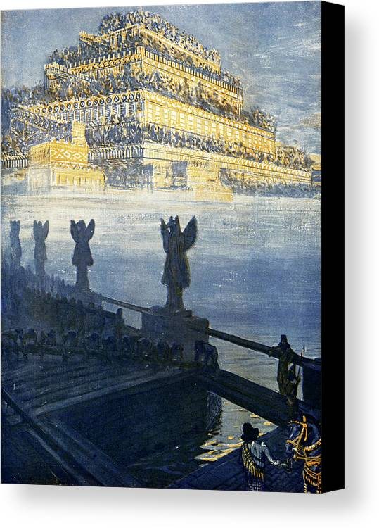 1909 Canvas Print featuring the photograph Hanging Gardens Of Babylon by Cci Archives