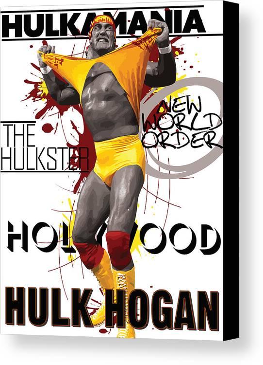 Hulk Hogan Canvas Print Canvas Art By Anibal Diaz
