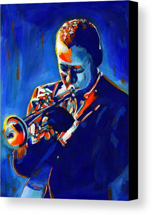American Canvas Print featuring the painting Jazz Man Miles Davis by Vel Verrept