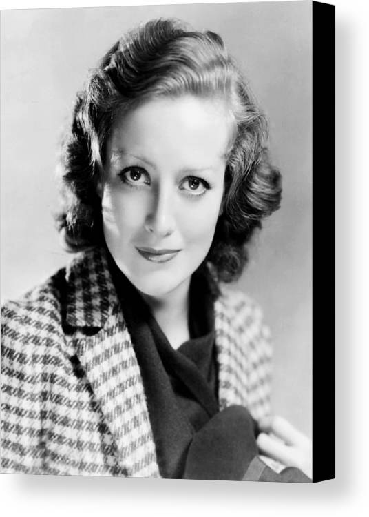 1930s Hairstyles Canvas Print featuring the photograph Joan Crawford, 1931 by Everett