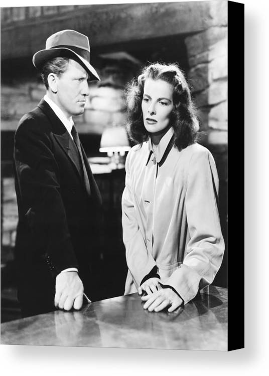 1940s Movies Canvas Print featuring the photograph Keeper Of The Flame, From Left Spencer by Everett