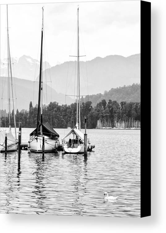 Lucerne Lake Canvas Print featuring the photograph Lake Lucerne Switzerland by Nian Chen