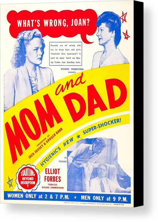 1940s Movies Canvas Print featuring the photograph Mom And Dad, Us Poster, Top From Left by Everett