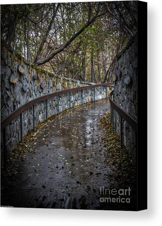 October Rain Canvas Print featuring the photograph October Rain by Mitch Shindelbower