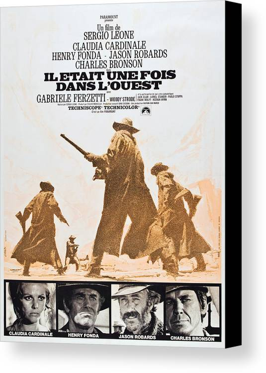 1960s Movies Canvas Print featuring the photograph Once Upon A Time In The West, Aka Il by Everett