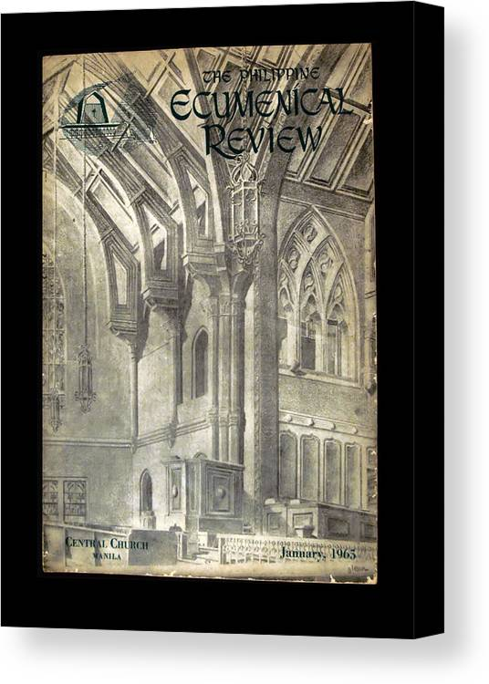 Ecumenical Canvas Print featuring the drawing Phil Ecumenical Review 1965 by Glenn Bautista